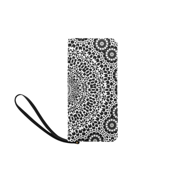 Clutch Purse - Custom Mandala Pattern - Black & White Mandala - Accessories mandalas purses