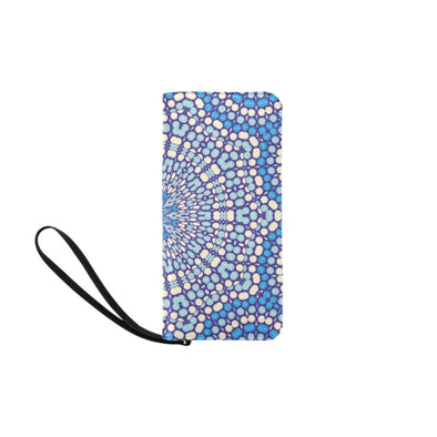 Clutch Purse - Custom Mandala Pattern - Blue Mandala - Accessories mandalas purses
