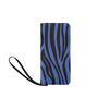 Clutch Purse - Custom Zebra Pattern - Blue Zebra - Accessories purses zebras