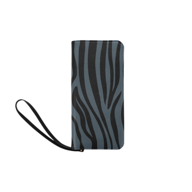 Clutch Purse - Custom Zebra Pattern - Charcoal Zebra - Accessories purses zebras