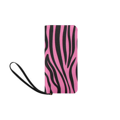 Clutch Purse - Custom Zebra Pattern - Hot Pink Zebra - Accessories purses zebras