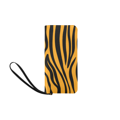 Clutch Purse - Custom Zebra Pattern - Orange Zebra - Accessories purses zebras