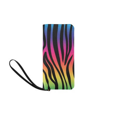 Clutch Purse - Custom Zebra Pattern - Rainbow Zebra - Accessories purses zebras