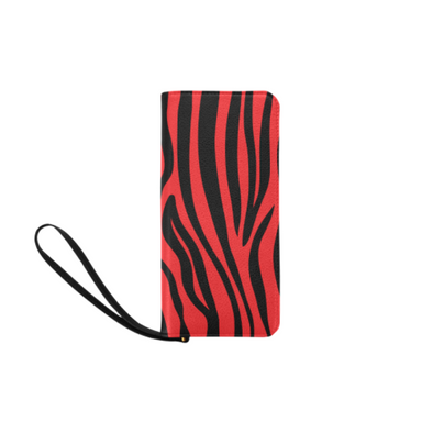 Clutch Purse - Custom Zebra Pattern - Red Zebra - Accessories purses zebras