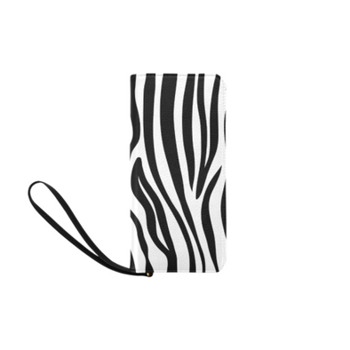 Clutch Purse - Custom Zebra Pattern - White Zebra - Accessories purses zebras