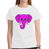 Custom Womens Elephant Chalkhead T-Shirt - Design Your Own - Clothing design your own elephants womens t-shirts