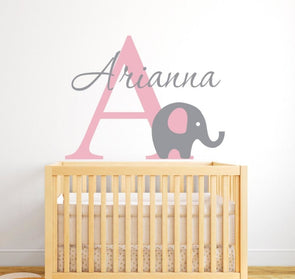 Customized Name Elephant Wall Sticker - Wall Art elephants wall stickers