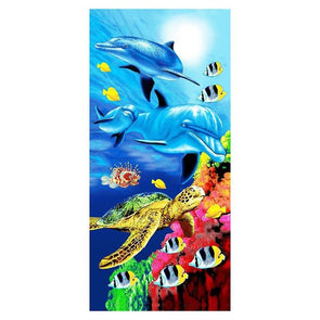 Dolphin Tiger or Horse Microfiber Beach Towel - Beachware beachware big cats dolphins horses tigers