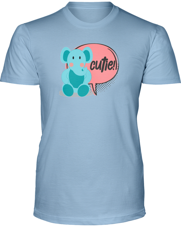 Elephant Cutie T-Shirt - Design 2 - Baby Blue / S - Clothing elephants womens t-shirts