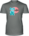 Elephant Cutie T-Shirt - Design 2 - Deep Heather / S - Clothing elephants womens t-shirts