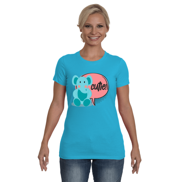 Elephant Cutie T-Shirt - Design 2 - Clothing elephants womens t-shirts