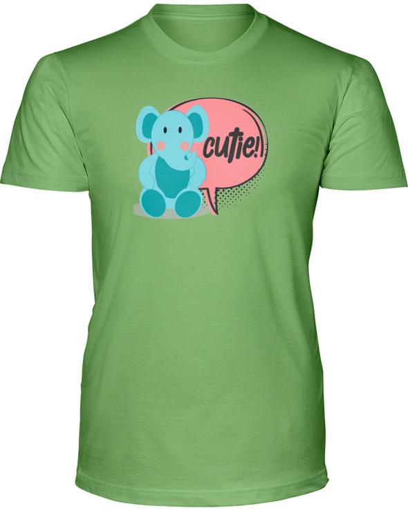 Elephant Cutie T-Shirt - Design 2 - Heather Green / S - Clothing elephants womens t-shirts