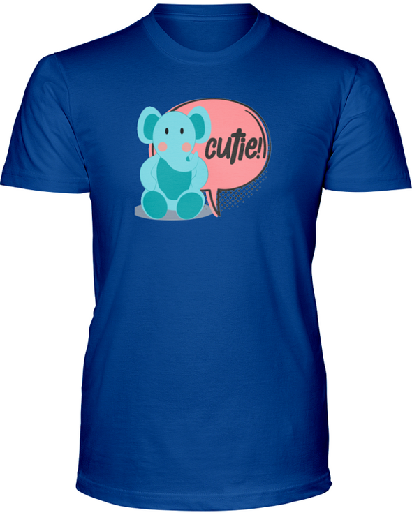 Elephant Cutie T-Shirt - Design 2 - Hthr True Royal / S - Clothing elephants womens t-shirts