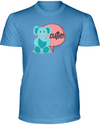 Elephant Cutie T-Shirt - Design 2 - Ocean Blue / S - Clothing elephants womens t-shirts