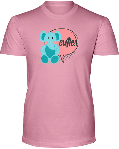Elephant Cutie T-Shirt - Design 2 - Pink / S - Clothing elephants womens t-shirts