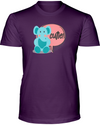 Elephant Cutie T-Shirt - Design 2 - Team Purple / S - Clothing elephants womens t-shirts