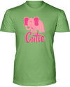 Elephant Cutie T-Shirt - Design 3 - Heather Green / S - Clothing elephants womens t-shirts