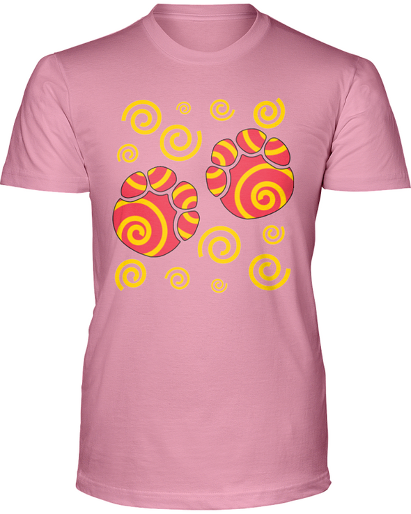 Elephant Footprints T-Shirt - Design 2 - Pink / S - Clothing elephants womens t-shirts