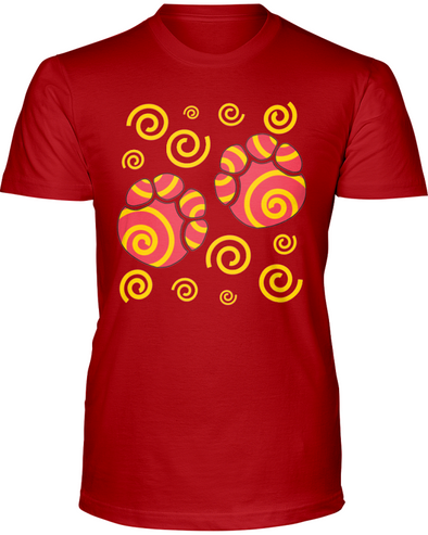 Elephant Footprints T-Shirt - Design 2 - Red / S - Clothing elephants womens t-shirts