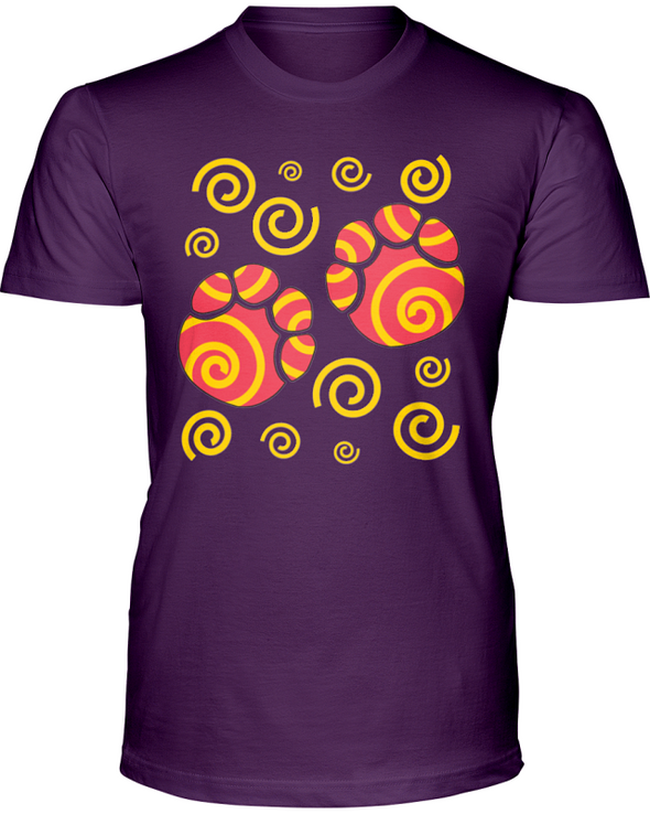 Elephant Footprints T-Shirt - Design 2 - Team Purple / S - Clothing elephants womens t-shirts
