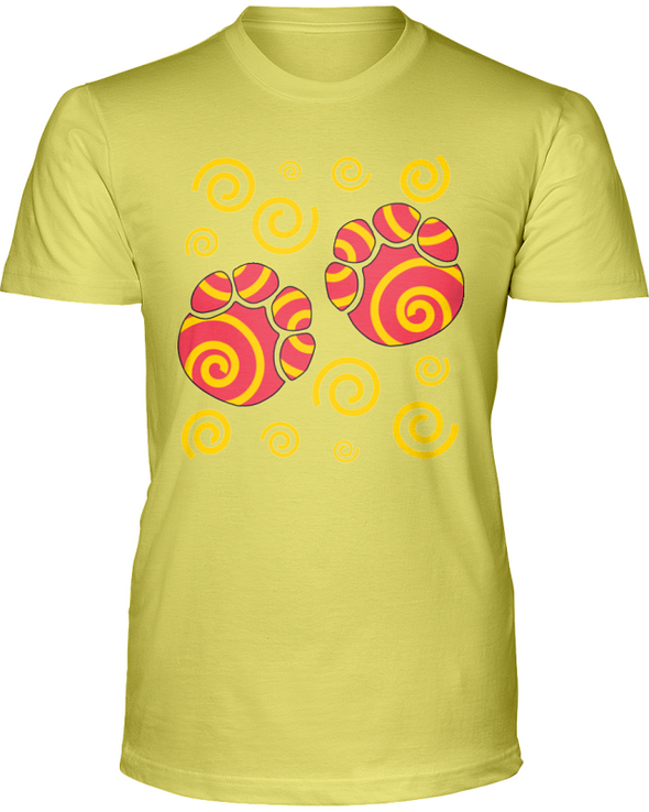 Elephant Footprints T-Shirt - Design 2 - Yellow / S - Clothing elephants womens t-shirts