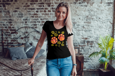 Elephant Footprints T-Shirt - Design 3 - Clothing elephants womens t-shirts