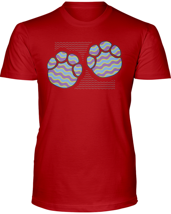 Elephant Footprints T-Shirt - Design 3 - Red / S - Clothing elephants womens t-shirts