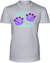 Elephant Footprints T-Shirt - Design 4 - Athletic Heather / S - Clothing elephants womens t-shirts