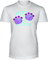 Elephant Footprints T-Shirt - Design 4 - White / S - Clothing elephants womens t-shirts