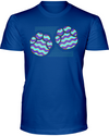 Elephant Footprints T-Shirt - Design 6 - Hthr True Royal / S - Clothing elephants womens t-shirts