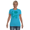 Elephant Love T-Shirt - Aqua - Clothing elephants womens t-shirts