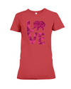 Elephant Love T-Shirt - Hot Pink - Red / S - Clothing elephants womens t-shirts