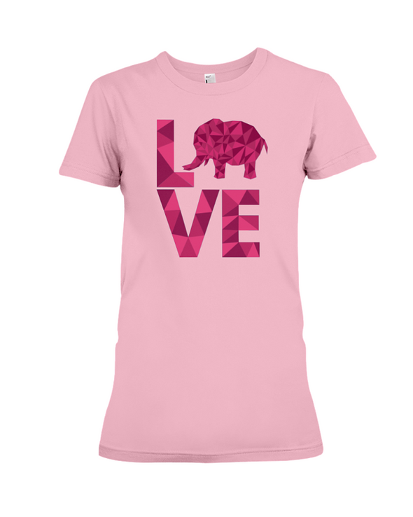 Elephant Love T-Shirt - Hot Pink - Pink / S - Clothing elephants womens t-shirts