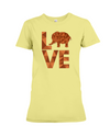 Elephant Love T-Shirt - Orange - Yellow / S - Clothing elephants womens t-shirts