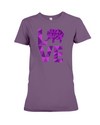 Elephant Love T-Shirt - Purple - Team Purple / S - Clothing elephants womens t-shirts