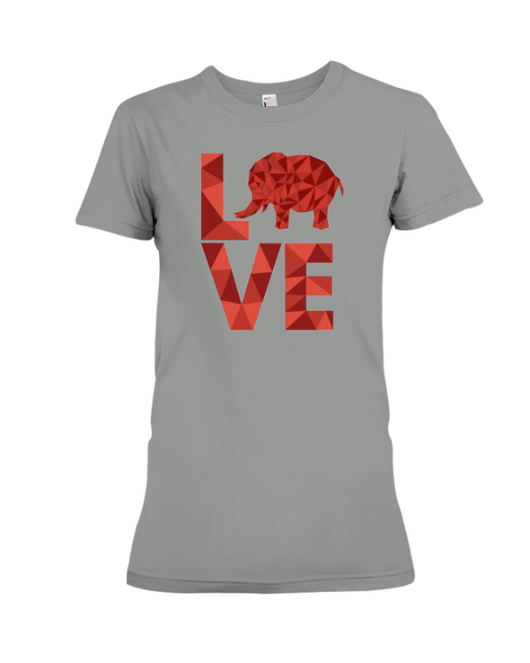 Elephant Love T-Shirt - Red - Deep Heather / S - Clothing elephants womens t-shirts