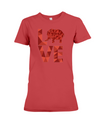 Elephant Love T-Shirt - Red - Red / S - Clothing elephants womens t-shirts