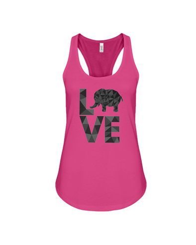 Elephant Love Tank-Top - Black - Berry / S - Clothing elephants womens t-shirts