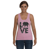 Elephant Love Tank-Top - Black - Clothing elephants womens t-shirts