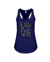 Elephant Love Tank-Top - Black - Navy / S - Clothing elephants womens t-shirts