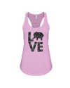 Elephant Love Tank-Top - Black - Soft Pink / S - Clothing elephants womens t-shirts