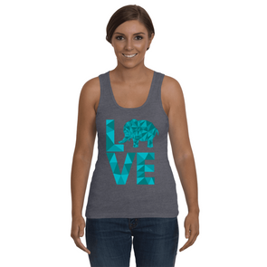 Elephant Love Tank-Top - Blue - Clothing elephants womens t-shirts
