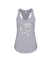 Elephant Love Tank-Top - Gray - Athletic Heather / S - Clothing elephants womens t-shirts