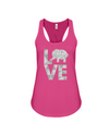 Elephant Love Tank-Top - Gray - Berry / S - Clothing elephants womens t-shirts