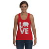 Elephant Love Tank-Top - Gray - Clothing elephants womens t-shirts