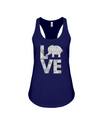 Elephant Love Tank-Top - Gray - Navy / S - Clothing elephants womens t-shirts