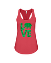 Elephant Love Tank-Top - Green - Red / S - Clothing elephants womens t-shirts