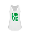 Elephant Love Tank-Top - Green - White / S - Clothing elephants womens t-shirts