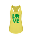 Elephant Love Tank-Top - Green - Yellow / S - Clothing elephants womens t-shirts