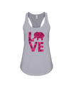 Elephant Love Tank-Top - Hot Pink - Athletic Heather / S - Clothing elephants womens t-shirts